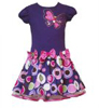 Rare Editions Girls Drop Waist Butterfly Dress Purple