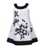 Rare Editions Girls 7-16 Glitter Dress Black and White