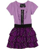 Baby Phat - Kids Girls Short Sleeve Tiered Dress, Grapelicious, 4