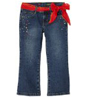 Zana Di Girls Red With Belt And Rhinestone Jeans Sandblast