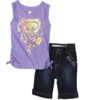 Soft Purple Ecko Girls Tank And Short Set